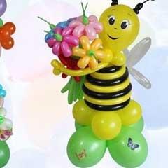 оформление банкетного зала на день рождения, юбилей, свадьбу, выпускной цветами, воздушными шарами и тканью